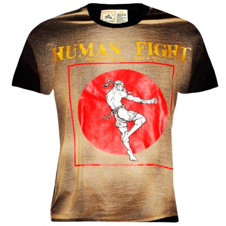 T-Shirts Muay Thai Human Fight Cotton HN-055