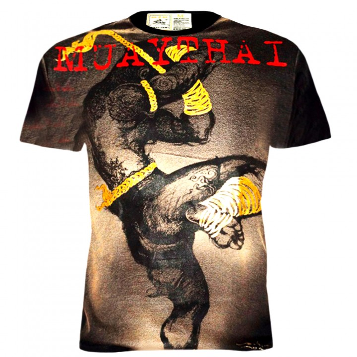 T-Shirts Muay Thai Human Fight Cotton HN-098