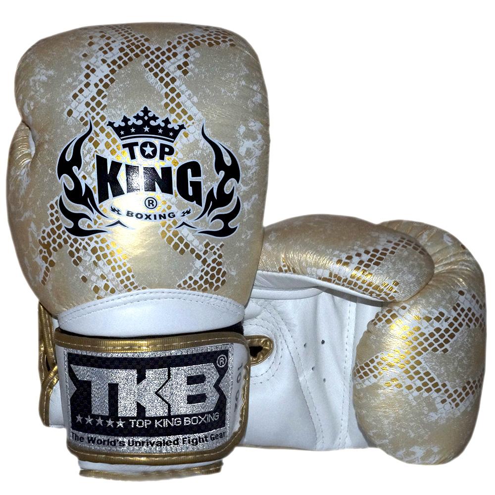 BOXING GLOVES TKB SNAKE TKBGSS-02 GOLD WHITE