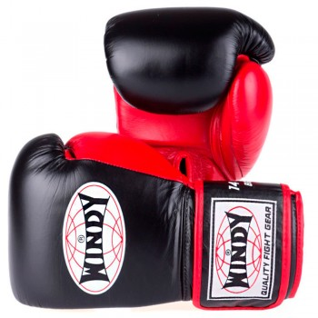 BOXING GLOVES WINDY BGP PROLINE BLACK-RED