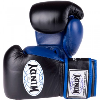 BOXING GLOVES WINDY BGP PROLINE BLACK-BLUE