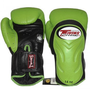 BOXING GLOVES TWINS SPECIAL BGVL-6 GREEN-BLACK