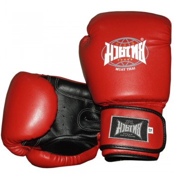 "BOXING GLOVES BRAND ""MUAY THAI"" RED-BLACK"