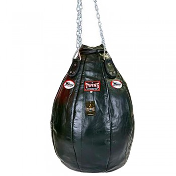 TWINS SPECIAL PPL HEAVY BAG TEAR DROP 100% LEATHER BLACK