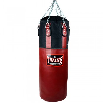TWINS SPECIAL HEAVY PUNCHING BAG HBNL 100% LEATHER NYLON RED