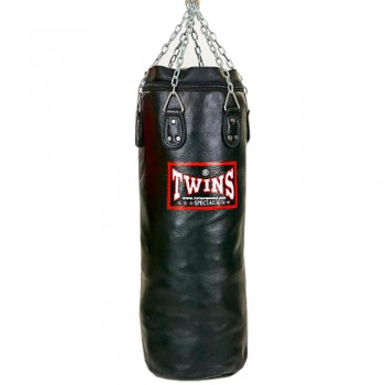TWINS SPECIAL HEAVY PUNCHING BAG HBFL 100% LEATHER BLACK