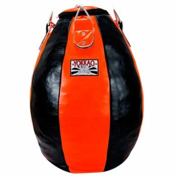 YOKKAO HEAVY BAG PPYL-2 TEAR DROP LEATHER ORANGE-BLACK