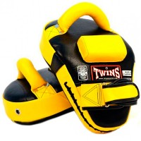 TWINS SPECIAL KPL-11 CURVED LEAF LEATHER KICK PADS