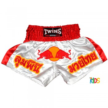 THAI SHORTS FOR KIDS TWINS SPECIAL TBS-05 KIDS RED BULL WHITE