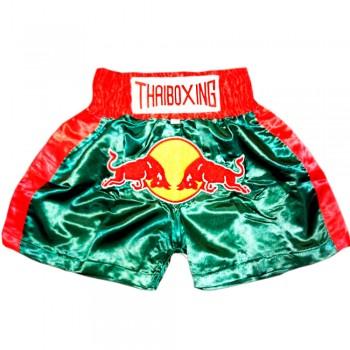 Thai Shorts For Kids Thaiboxing TBK-02 Red Bull Green