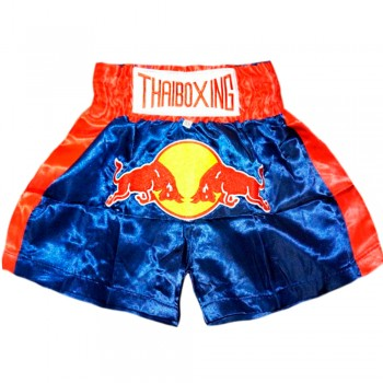 Thai Shorts For Kids Thaiboxing TBS-05 Red Bull Blue Double