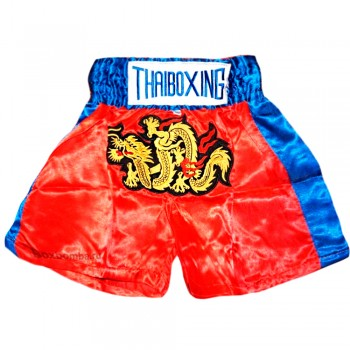 THAI SHORTS FOR KIDS THAIBOXING TBS - 05 RED BULL RED-BLUE