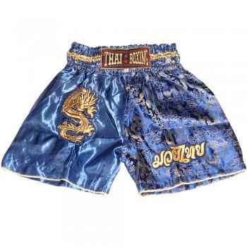 Thai Shorts For Kids Thaiboxing TBK-01 Dragon Blue