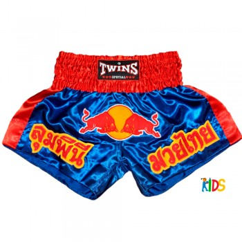 Thai Shorts Thaiboxing For Kids BS - 05 Red Bull Blue