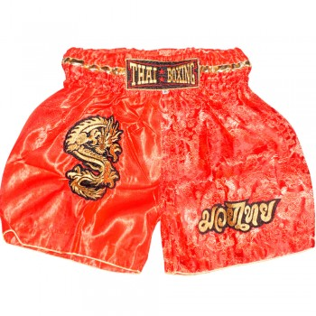 THAI SHORTS FOR KIDS THAIBOXING TBK-06 DRAGON RED