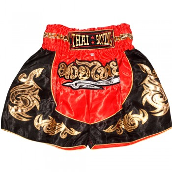 THAI SHORTS FOR KIDS THAIBOXING TBK-06 RED GOLD