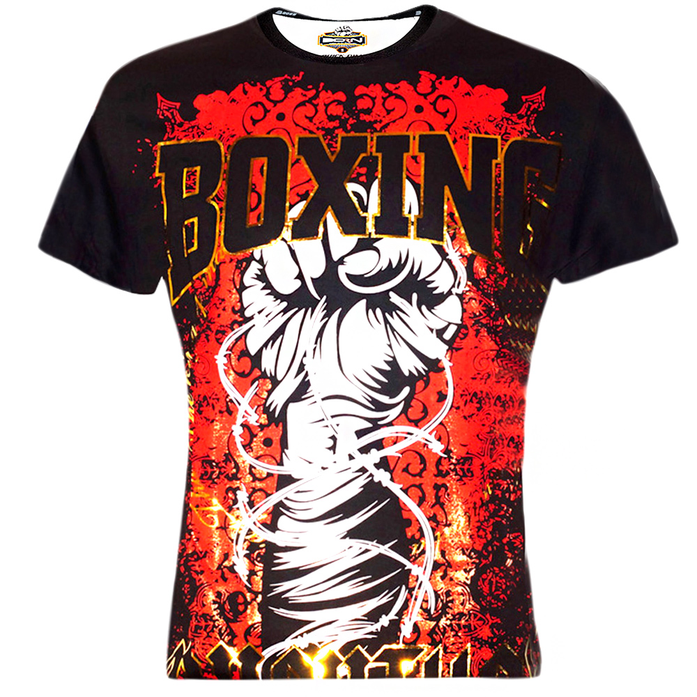 T-SHIRTS MUAY THAI BORN TO BE FOR KIDS MT8002-D BLACK