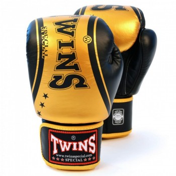 BOXING GLOVES TWINS SPECIAL FBGV-TW-4 BLACK GOLD