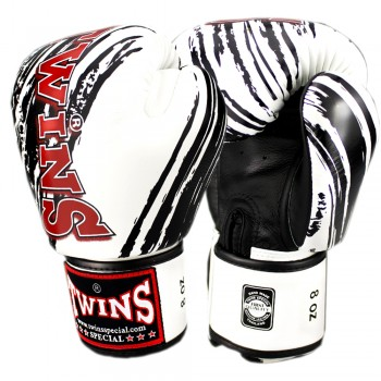 BOXING GLOVES TWINS SPECIAL FBGV-TW2 WHITE-BLACK