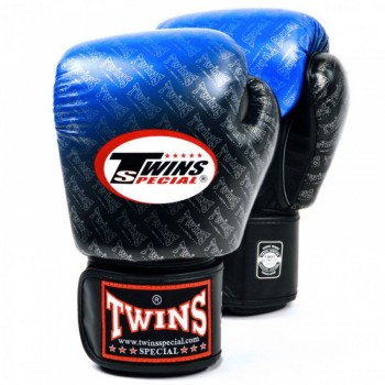 BOXING GLOVES TWINS SPECIAL FBGV-TW1 BLACK BLUE