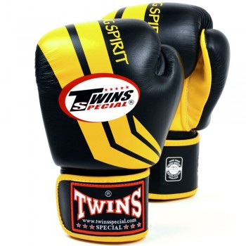 BOXING GLOVES TWINS SPECIAL FBGV-43 BLACK-YELLOW