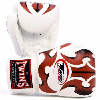 BOXING GLOVES TWINS SPECIAL FBGV-22 BR WHITE ROMAN