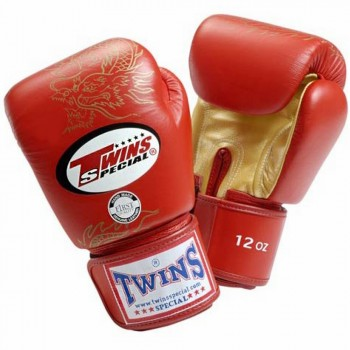 BOXING GLOVES TWINS SPECIAL FBGV6 RED-GOLD