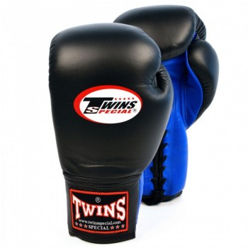 BOXING GLOVES TWINS SPECIAl BGLL-1 BLACK-BLUE