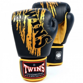 BOXING GLOVES TWINS SPECIAL FBGV-TW-2 BLACK-GOLD