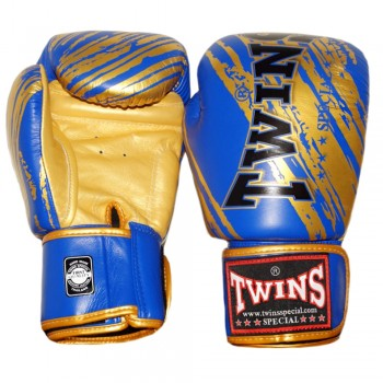 BOXING GLOVES TWINS SPECIAL FBGV-TW2 GOLD-BLUE