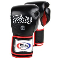 BOXING GLOVES FAIRTEX BGV5 SUPER SPARRING BLACK-RED-WHITE