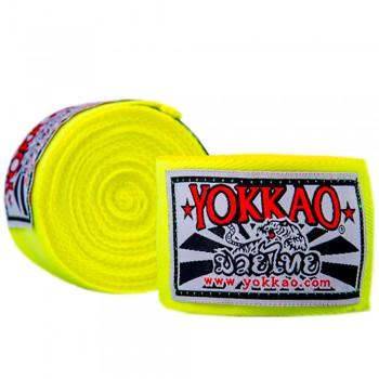YOKKAO PREMIUM HAND WRAPS YELLOW NEON