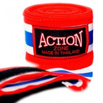 ACTION ZONE HAND WRAPS THAI FLAG