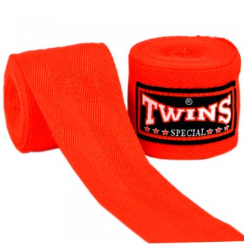 TWINS MUAY THAI HAND WRAPS CH-1 RED