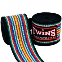 TWINS MUAY THAI HAND WRAPS CH-2 BLACK