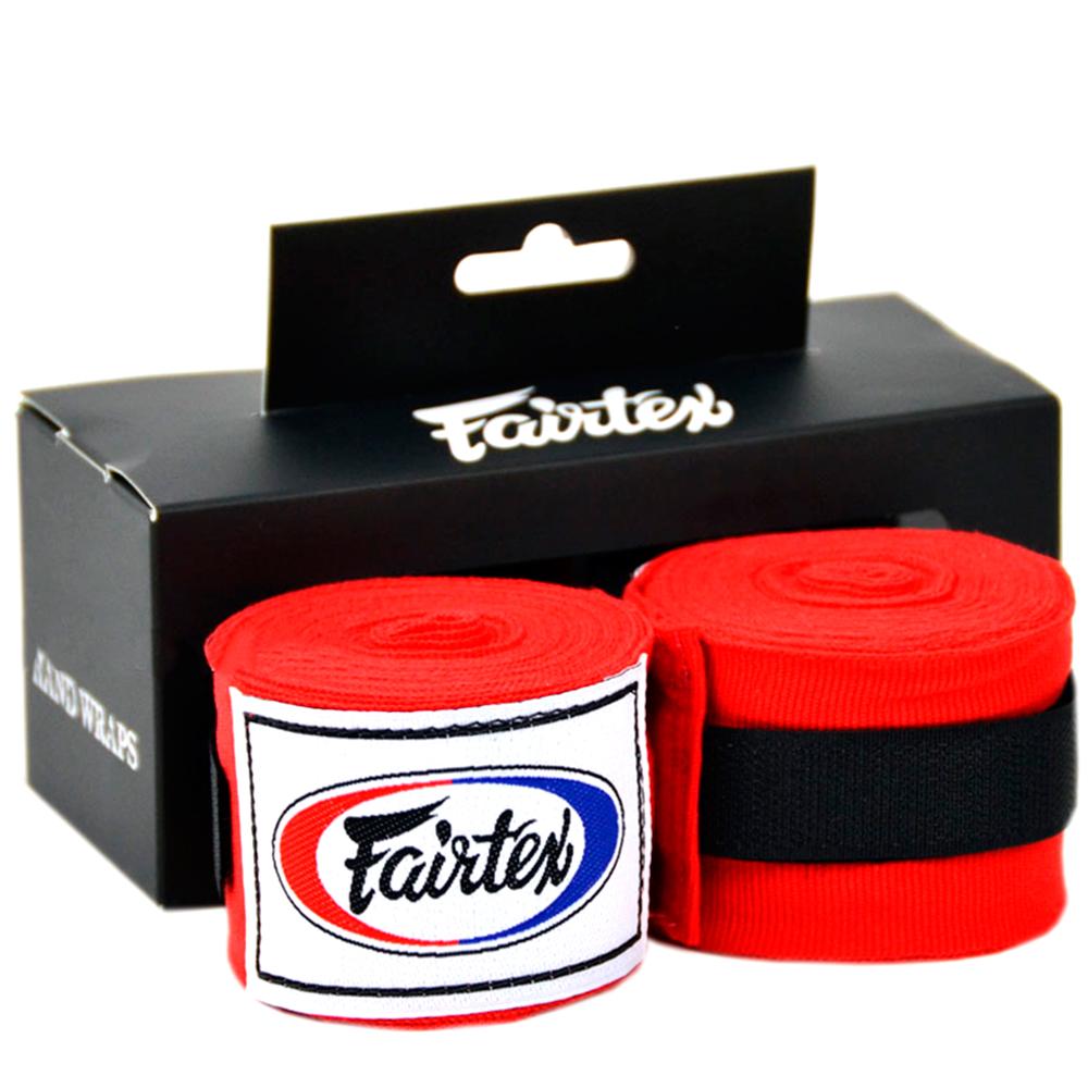 FAIRTEX MUAY THAI BOXING HAND WRAPS HW2 RED