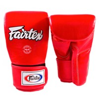 FAIRTEX BAG GLOVES TGO3 RED SEMI THUMB