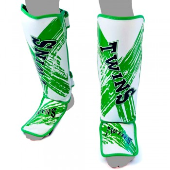 Shin Guards Twins Special FSG-TW2 White-Green