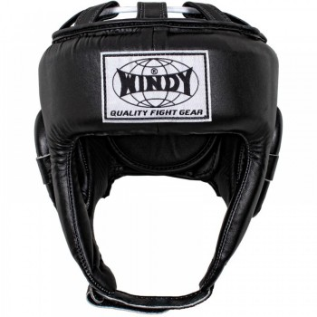 BOXING HEADGEAR WINDY OPEN BLACK
