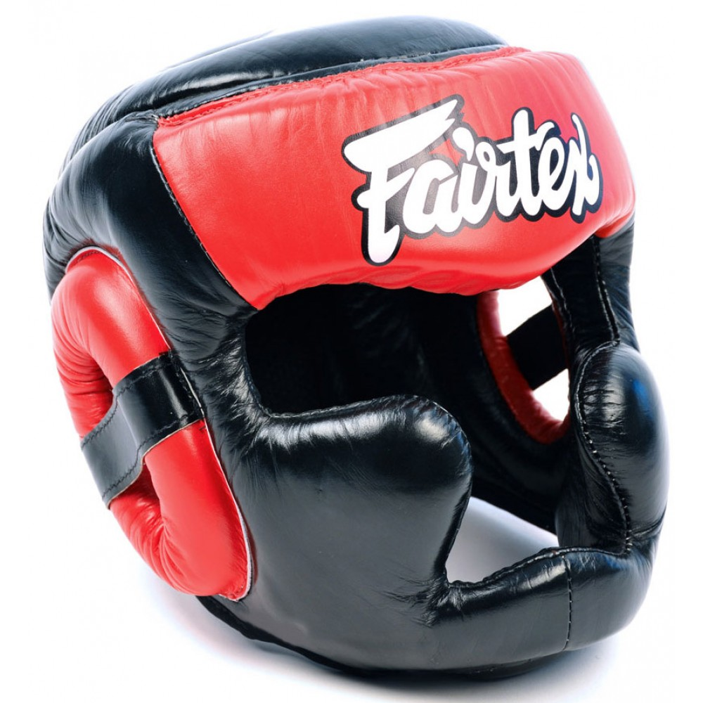 BOXING HEADGEAR FAIRTEX HG13 BLACK-RED