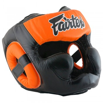 Boxing Headgear Fairtex HG13 Black-Orange