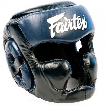 BOXING HEADGEAR FAIRTEX HG13 BLACK-BLUE