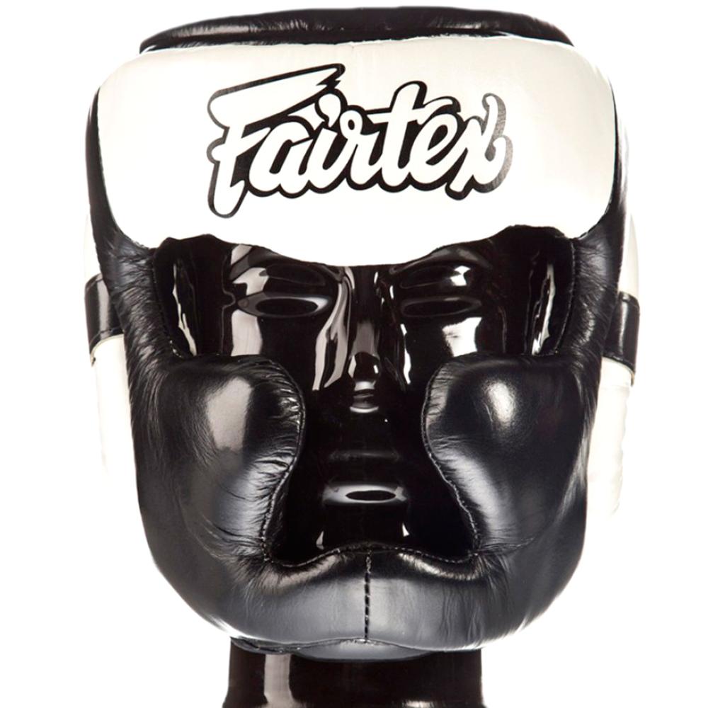 BOXING HEADGEAR HEAD GUARD FAIRTEX HG13 BLACK - WHITE