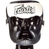 BOXING HEADGEAR FAIRTEX HG13 BLACK - WHITE