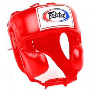 Boxing Headgear Fairtex HG8 Mexican Style Red