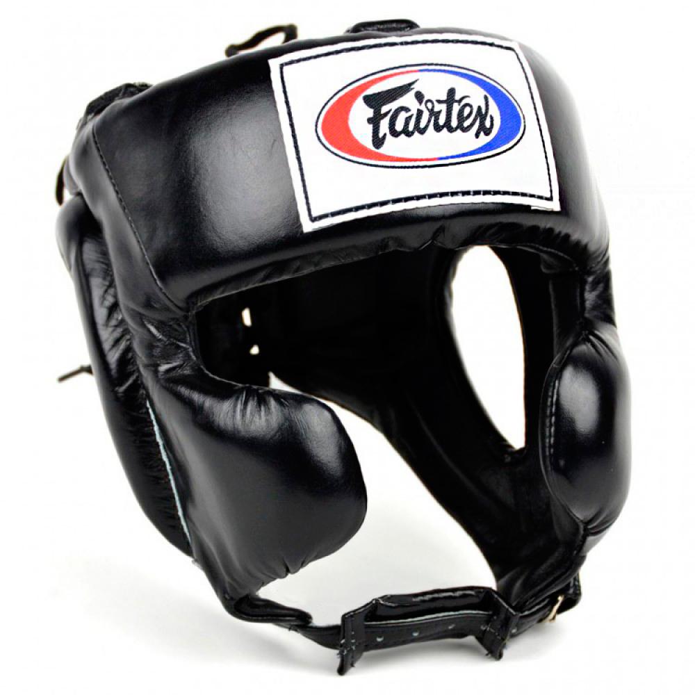 BOXING HEADGEAR HEAD GUARD FAIRTEX HG8 MEXICAN STYLE BLACK
