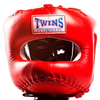 BOXING HEADGEAR TWINS HGL-10 RED