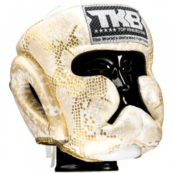 BOXING HEADGEAR TOP KING TKHGSN WHITE-SNAKE