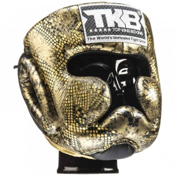 BOXING HEADGEAR TOP KING TKHGSN GOLD SNAKE
