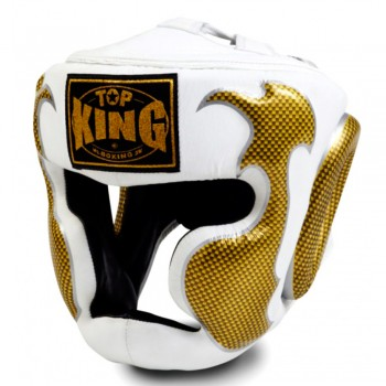 BOXING HEADGEAR TOP KING TKHGEM-01 WHITE GOLD